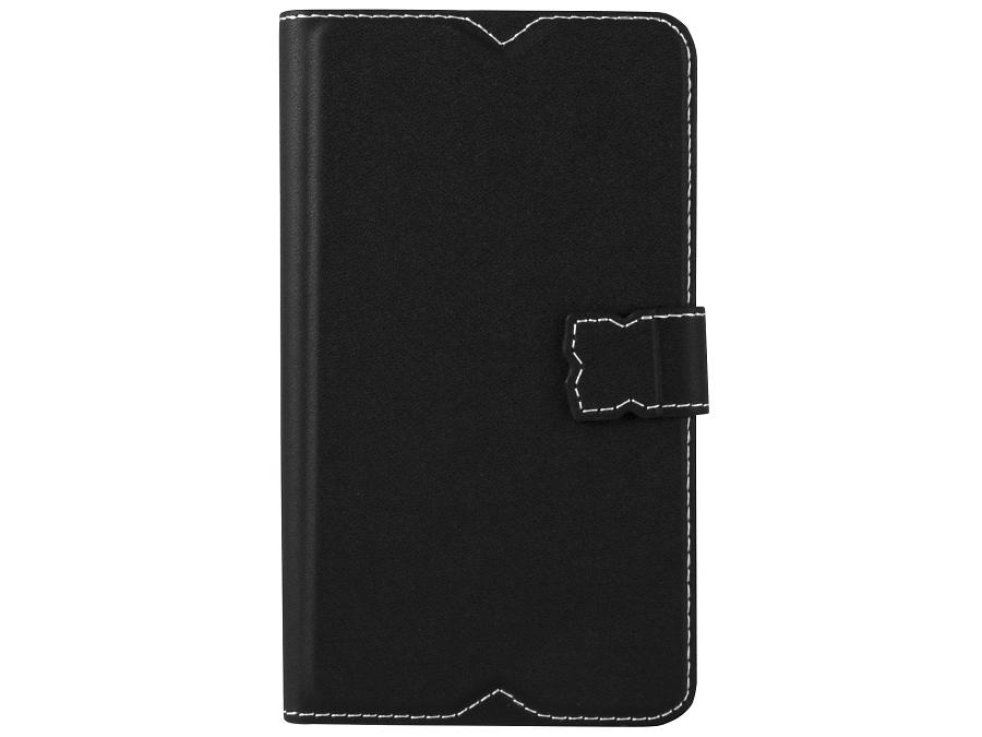 Чехол-книжка Muvit SESLI0134 для Sony Xperia E4, поликарбонат / полиуретан, черный