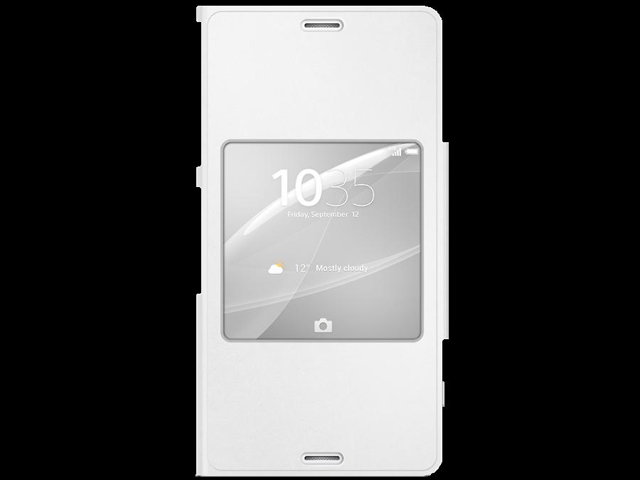 Чехол-книжка Sony SCR26 для Xperia Z3 Сompact, полиуретан, белый
