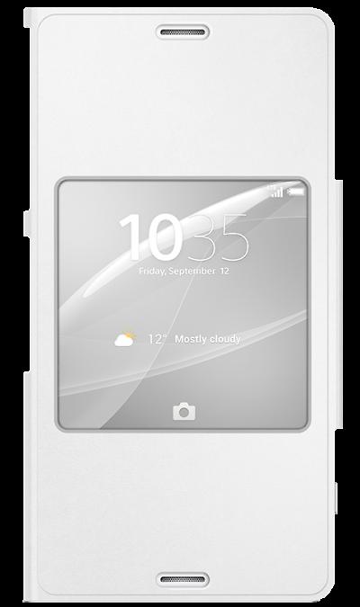 все цены на Sony Чехол-книжка Sony SCR26 для Xperia Z3 Сompact, полиуретан, белый онлайн
