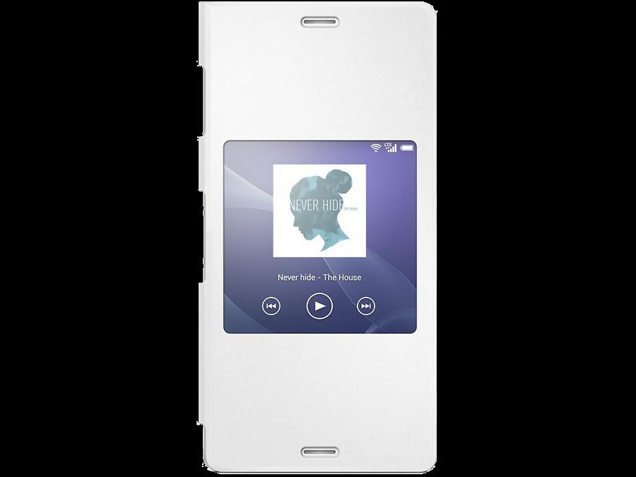 Чехол-книжка Sony SCR24 для Xperia Z3, полиуретан, белый