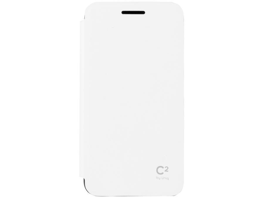 Чехол-книжка Uniq C2 для Samsung Galaxy A3, кожзам / резина, белый