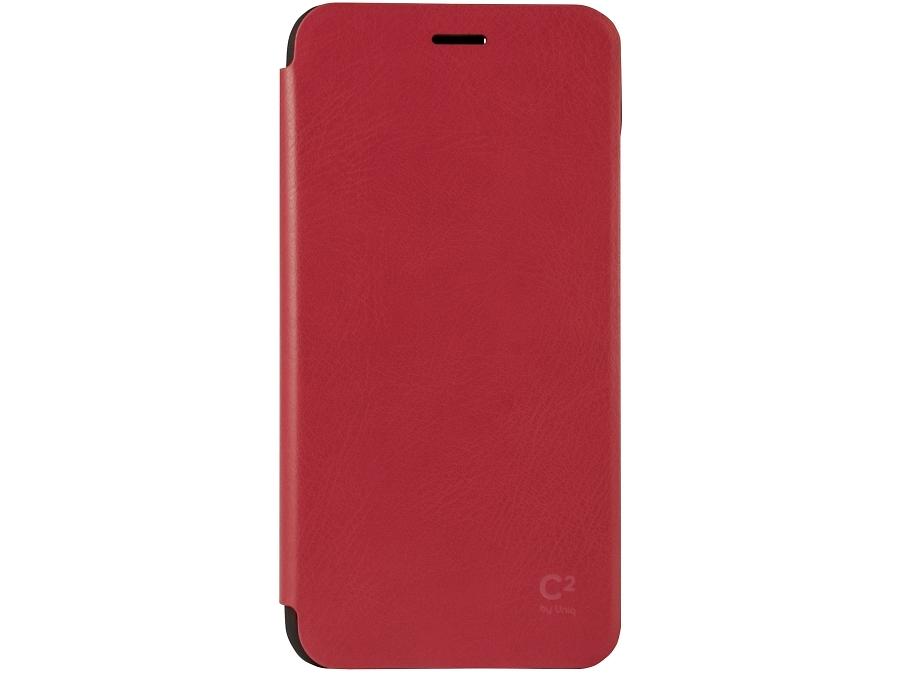 Чехол-книжка Uniq C2 для Apple iPhone 6, кожзам / резина, красный