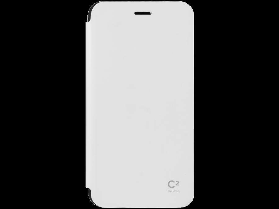 Чехол-книжка Uniq C2 для Apple iPhone 6 Plus, кожзам / пластик, белый