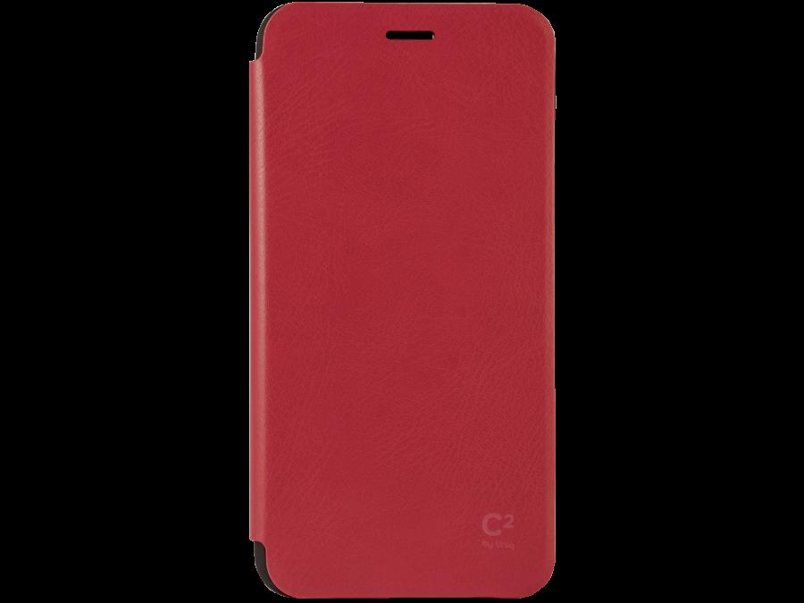Чехол-книжка Uniq C2 для Apple iPhone 6 Plus, кожзам / пластик, красный