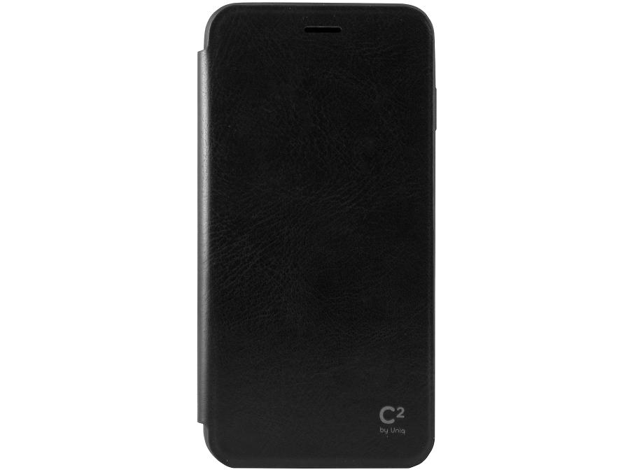 Чехол-книжка Uniq C2 для Apple iPhone 6 Plus, кожзам / пластик, черный