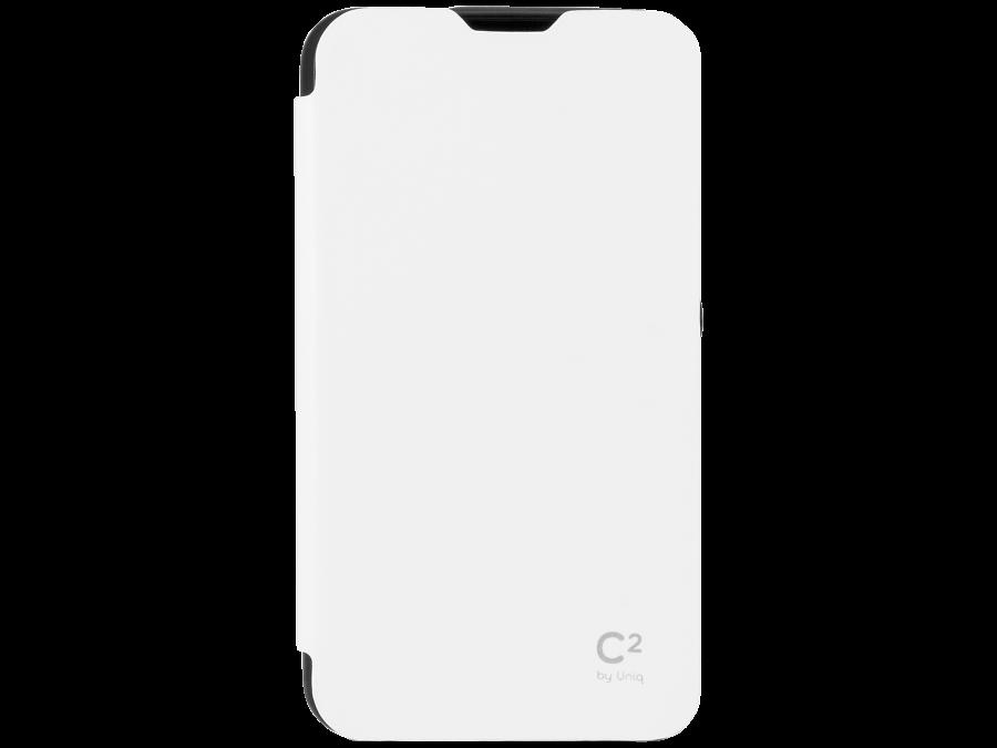 Чехол-книжка Uniq C2 для Sony Xperia E4g, кожзам / резина, белый