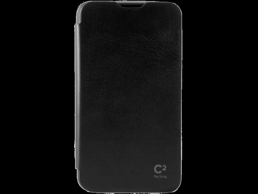 Чехол-книжка Uniq C2 для Sony Xperia E4g, кожзам / резина, черный