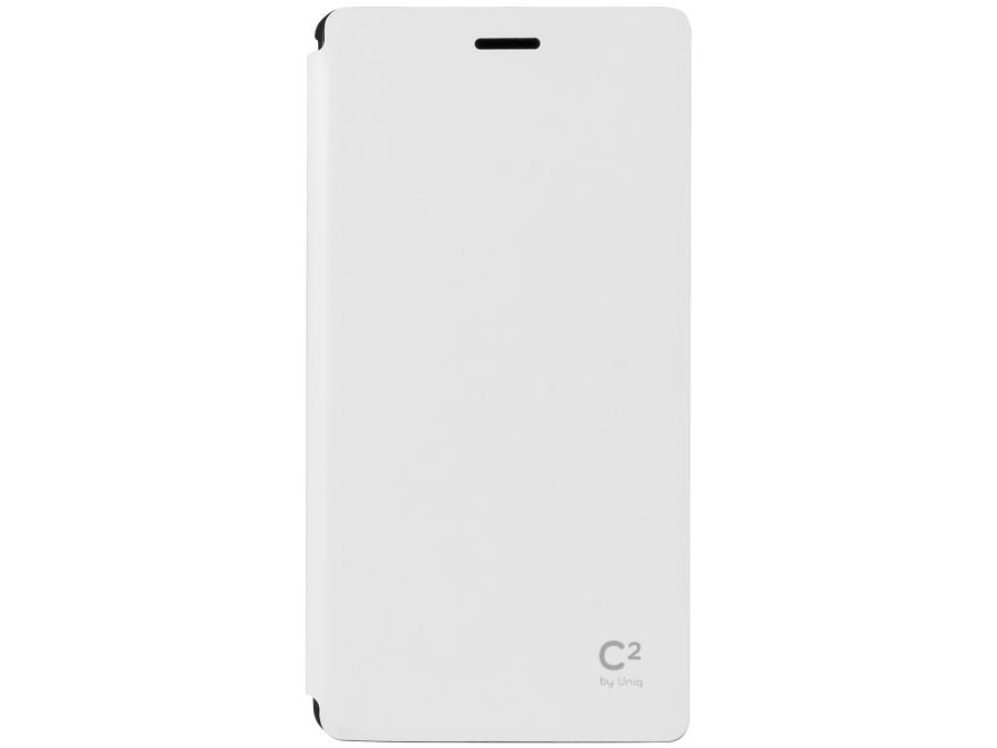 Чехол-книжка Uniq C2 для Sony Xperia M4, кожзам / резина, белый