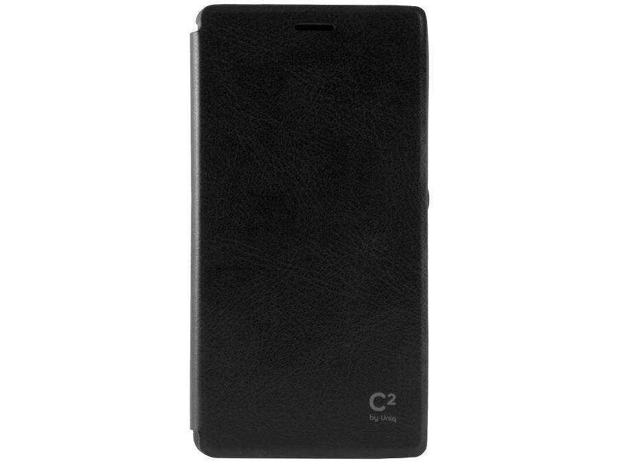 Чехол-книжка Uniq C2 для Sony Xperia M4, кожзам / резина, черный