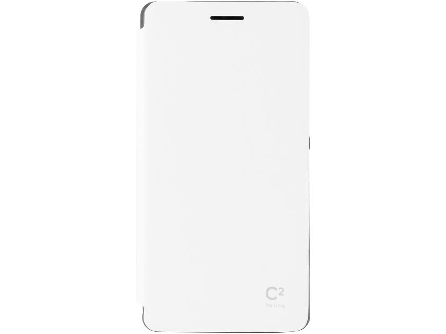 Чехол-книжка Uniq C2 для Sony Xperia Z3 Compact, кожзам / резина, белый