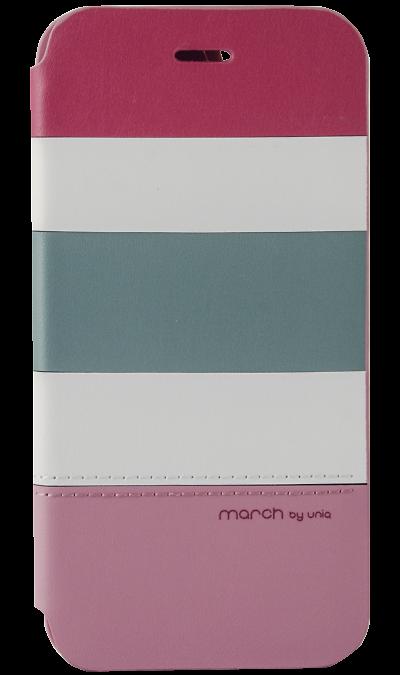 Чехол-книжка Uniq March для Apple iPhone 6, кожзам / пластик, розовыйЧехлы и сумочки<br>Чехол поможет не только защитить ваш iPhone 6 от повреждений, но и сделает обращение с ним более удобным, а сам аппарат будет выглядеть еще более элегантным.<br><br>Colour: Розовый