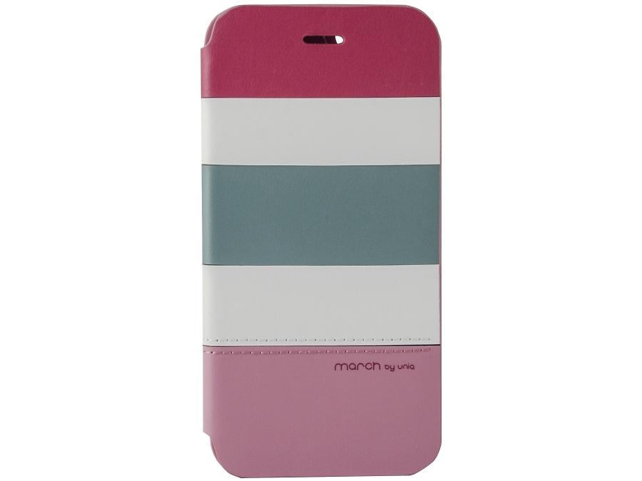 Чехол-книжка Uniq March для Apple iPhone 6, кожзам / пластик, розовый