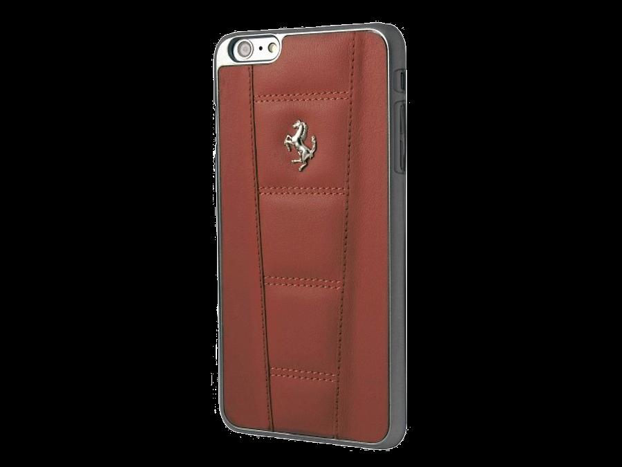 Чехол-крышка Ferrari для Apple iPhone 6, кожа / пластик, красный
