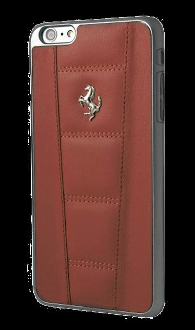 Чехол-крышка Ferrari для Apple iPhone 6 Plus, кожа / пластик, красныйЧехлы и сумочки<br>Чехол Ferrari  поможет не только защитить ваш iPhone 6 Plus от повреждений, но и сделает обращение с ним более удобным, а сам аппарат будет выглядеть еще более элегантным.<br><br>Colour: Красный