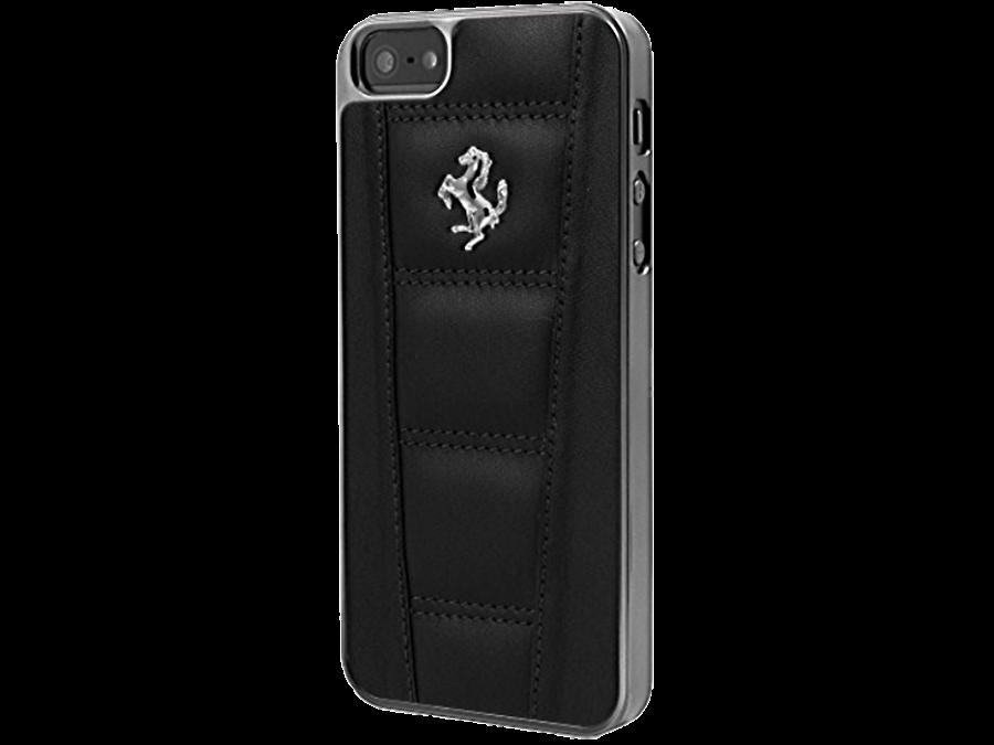 Чехол-крышка Ferrari для Apple iPhone 6 Plus, кожа / пластик, черный