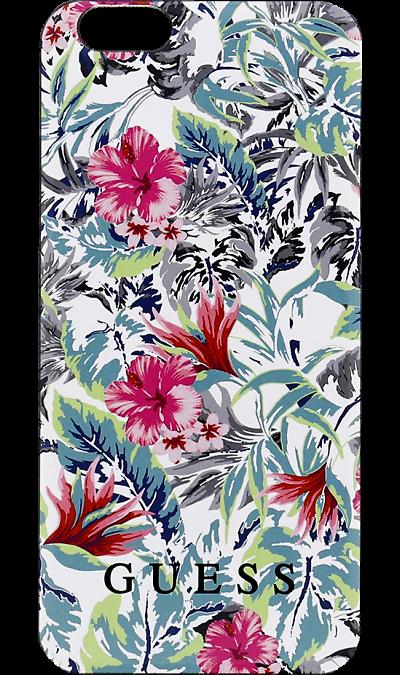 Чехол-крышка Guess Printed для Apple iPhone 6 джунгли, пластикЧехлы и сумочки<br>Чехол Guess  поможет не только защитить ваш iPhone 6 от повреждений, но и сделает обращение с ним более удобным, а сам аппарат будет выглядеть еще более элегантным.<br><br>Colour: Белый