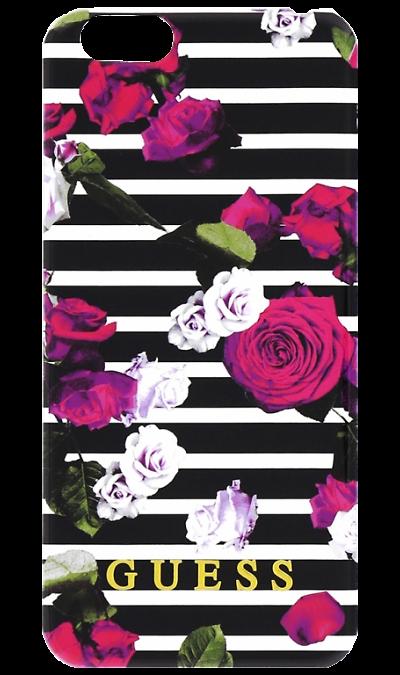Guess Чехол-крышка Guess Printed для iPhone 6 розы, пластик стоимость