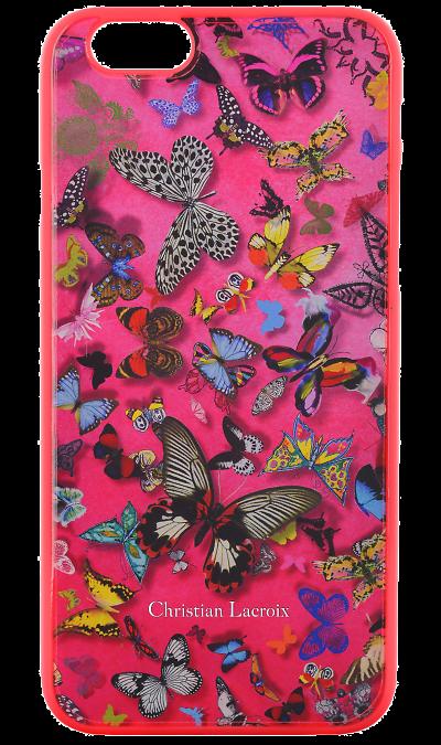 Christian Lacroix Чехол-крышка Christian Lacroix для Apple iPhone 6 бабочки, пластик, розовый christian lacroix чехол крышка christian lacroix для apple iphone 5 5s se полиуретан черный