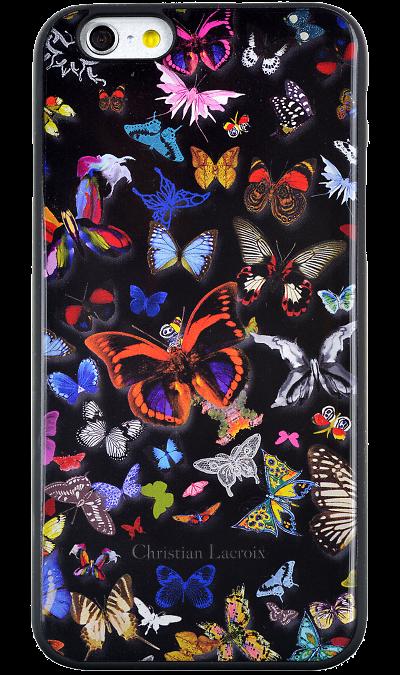 Чехол-крышка Christian Lacroix для Apple iPhone 6 бабочки, пластик, черныйЧехлы и сумочки<br>Чехол Christian Lacroix  поможет не только защитить ваш iPhone 6 от повреждений, но и сделает обращение с ним более удобным, а сам аппарат будет выглядеть еще более элегантным.<br><br>Colour: Черный