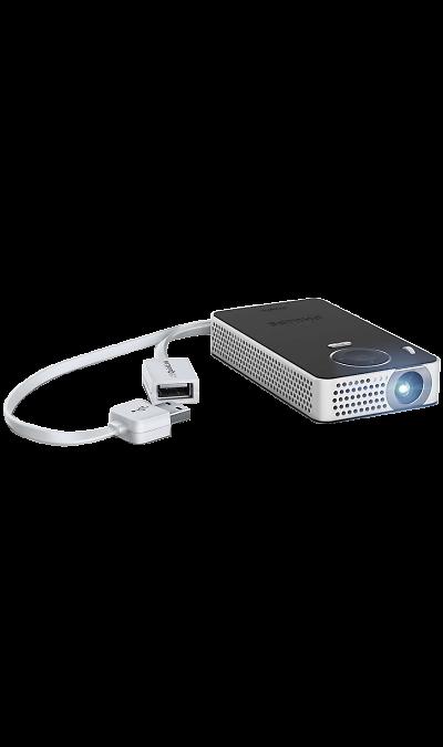 Philips PPX4350Другие устройства<br>Карманный проектор Philips PPX-4350WIFI c легкостью показывайте видеоролики и фотографии благодаря разъемам HDMI, USB и Micro SD. Беспроводное устройство PPX 4350 поддерживает трансляцию изображения с экрана через модуль Wi-Fi (совместимость с Miracast). Технология Bluetooth позволяет прослушивать аудио с АС Bluetooth.<br>Возможность беспроводных соединений.<br>Функция Bluetooth и приемное устройство Wi-Fi для трансляции изображения с экрана.<br>Великолепное качество ...<br><br>Colour: Черный