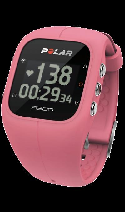 Polar A300Фитнес-устройства<br>Фитнес-часы Polar A300 знаменует новый шаг в развитии пульсометров для фитнеса. Сочетание трекера активности и пульсометра с функцией измерения ЧСС воплощено в стильном дизайне водонепроницаемых часов с возможностью замены корпуса в соответствии с вашем желанем, имеются черный, белый, серый, синий, желтый или розовый корпуса.<br>Отличительной особенностью Polar A300 является длительная работа без подзарядки - до 28 дней.<br>Основные функции:<br><br>Измерение частоты сердечных ...<br><br>Colour: Розовый