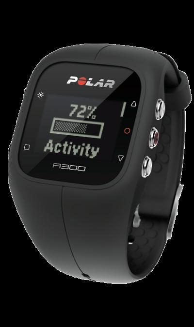Polar A300Фитнес-устройства<br>Фитнес-часы Polar A300 знаменует новый шаг в развитии пульсометров для фитнеса. Сочетание трекера активности и пульсометра с функцией измерения ЧСС воплощено в стильном дизайне водонепроницаемых часов с возможностью замены корпуса в соответствии с вашем желанем, имеются черный, белый, серый, синий, желтый или розовый корпуса.<br>Отличительной особенностью Polar A300 является длительная работа без подзарядки - до 28 дней.<br>Основные функции:<br><br>Измерение частоты сердечных ...<br><br>Colour: Черный