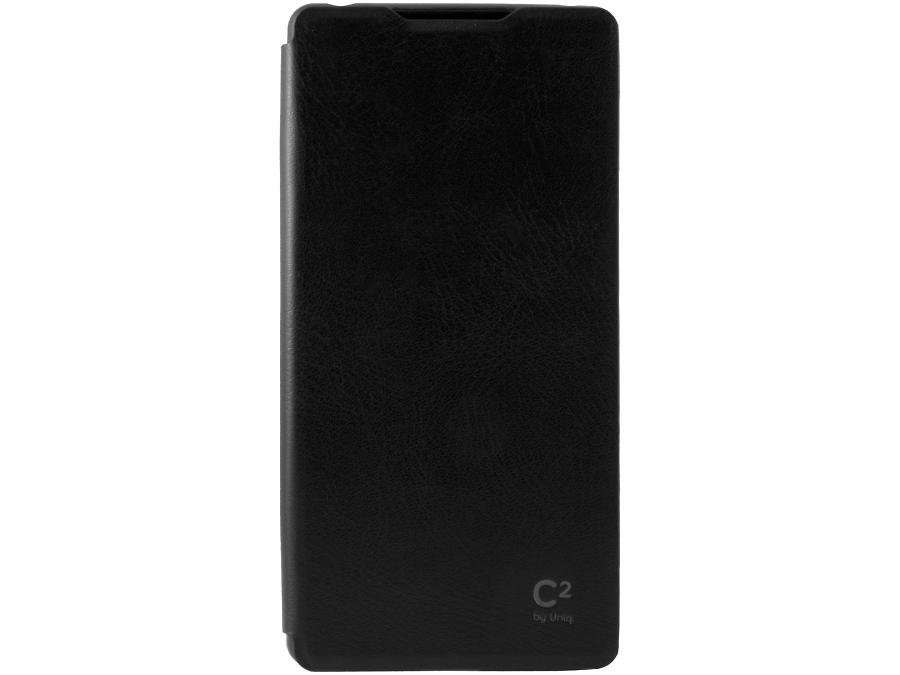 Чехол-книжка Uniq C2 для Sony Xperia Z3+, кожзам / пластик, черный