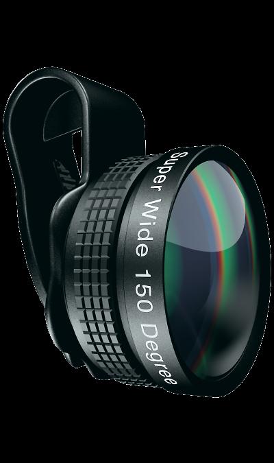 Линза для объектива Mixberry SELFIEMANIA MSM LS150WУстройства для селфи<br>Широкоугольная линза 150 градусов, с повышенной светочувствительностью. Охват кадра на 40% больше в сравнении со стандартным объективом смартфона.<br>ТЕХНИЧЕСКИЕ ХАРАКТЕРИСТИКИ:<br><br>Оптическое стекло<br>Широкоугольный объектив - 150  градусов<br>Высокая светочувствительность<br>Прочный металлический корпус<br>Удобный чехол в комплекте<br>