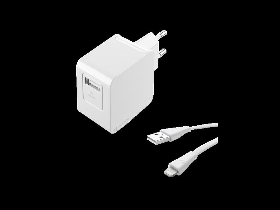 Cellular Line Зарядное устройство сетевое Cellular Line USB Charger Kit Ultra (с разъемом Lightning) cellular line car charger dual ultra автомобильное зарядное устройство 20326