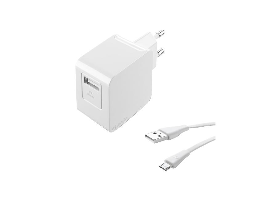 Зарядное устройство сетевое Cellular Line USB Charger Kit Ultra (с разъемом micro USB)