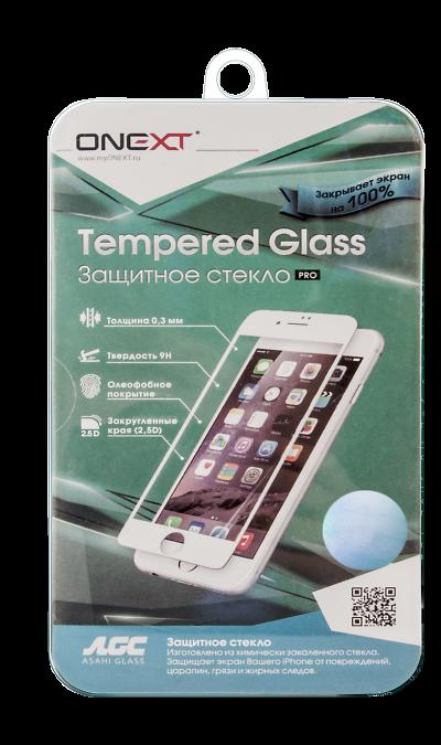 Защитное стекло One-XT для Apple iPhone 6 Plus с рамкой белоеЗащитные стекла и пленки<br>Качественное защитное стекло прекрасно защищает дисплей от царапин и других следов механического воздействия. Оно не содержит клеевого слоя и крепится на дисплей благодаря эффекту электростатического притяжения. Стекло имеет по краям белые рамки.<br>