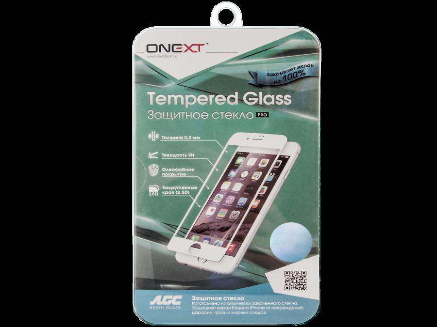 Защитное стекло One-XT для Apple iPhone 6 с рамкой белое