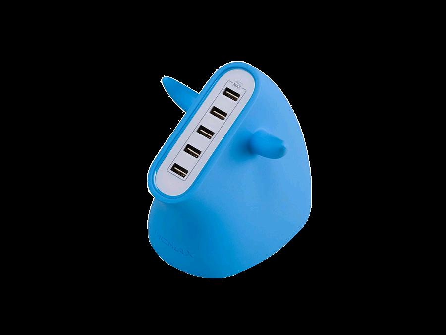 Зарядное устройство сетевое Momax U.BULL UM5SEUB Blue