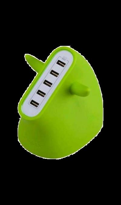 Зарядное устройство сетевое Momax U.BULL UM5SEUG GreenЗарядные устройства<br>Зарядная станция MOMAX U.BULL 5 port USB c USB выходами.<br>Предназначено для зарядки портативных электронных устройств (смартфонов, планшетов и тп.)<br><br>Размер: 97 х 30 х 71 мм;<br>Вес: 178 гр;<br>Выходная мощность: 5В = 8А / 40Вт;<br>Входное напряжение: 100-240В;<br>Время зарядки: 3-4 часа для планшетов, 2-3 часа для смартфонов и плееров;<br>Разъемы: 5 USB;<br>Рабочая температура: 0 С до +40 С.<br><br>Colour: Зеленый