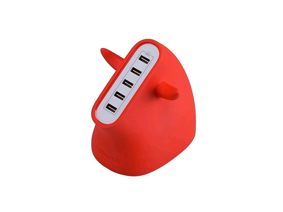 Зарядное устройство сетевое Momax U.BULL UM5SEUR Red