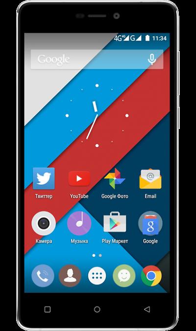 Highscreen Power FiveСмартфоны<br>2G, 3G, 4G, Wi-Fi; ОС Android; Дисплей сенсорный емкостный 16,7 млн цв. 5; Камера 8 Mpix, AF; Разъем для карт памяти; MP3, FM,  GPS / ГЛОНАСС; Вес 179 г.<br><br>Colour: Черный