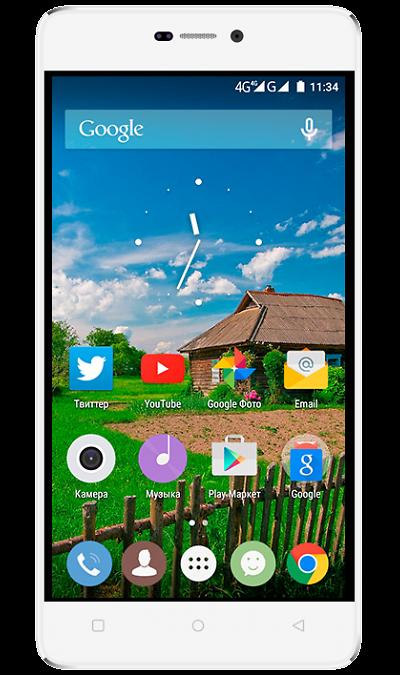 Highscreen Power FiveСмартфоны<br>2G, 3G, 4G, Wi-Fi; ОС Android; Дисплей сенсорный емкостный 16,7 млн цв. 5; Камера 8 Mpix, AF; Разъем для карт памяти; MP3, FM,  GPS / ГЛОНАСС; Вес 179 г.<br><br>Colour: Белый