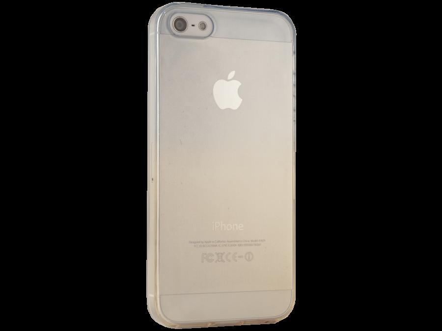 Чехол-крышка Gresso для Apple iPhone 5S жёлто-синий, силикон, прозрачный