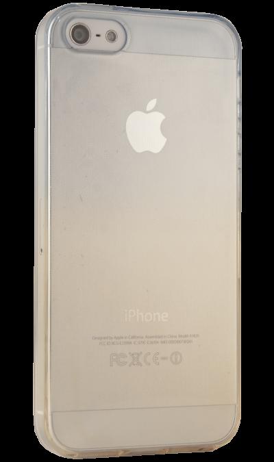 где купить Gresso Чехол-крышка Gresso для Apple iPhone 5S жёлто-синий, силикон, прозрачный по лучшей цене