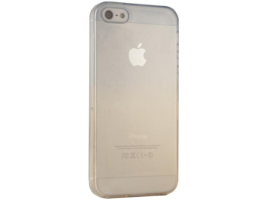 Чехол-крышка Gresso для iPhone 5S жёлто-синий, силикон, прозрачный