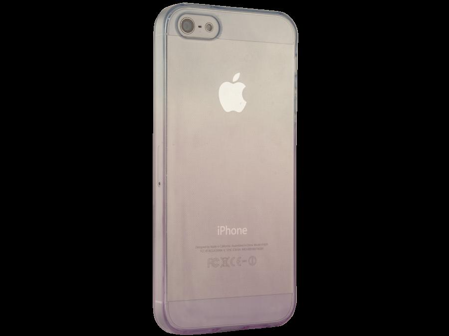 Чехол-крышка Gresso для Apple iPhone 5S фиолетово-голубой, силикон, прозрачный
