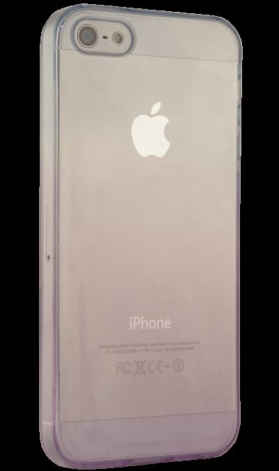 Gresso Чехол-крышка Gresso для Apple iPhone 5S фиолетово-голубой, силикон, прозрачный стоимость