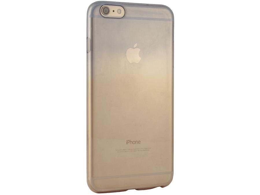 Чехол-крышка Gresso для iPhone 6 жёлто-синий, силикон, прозрачный