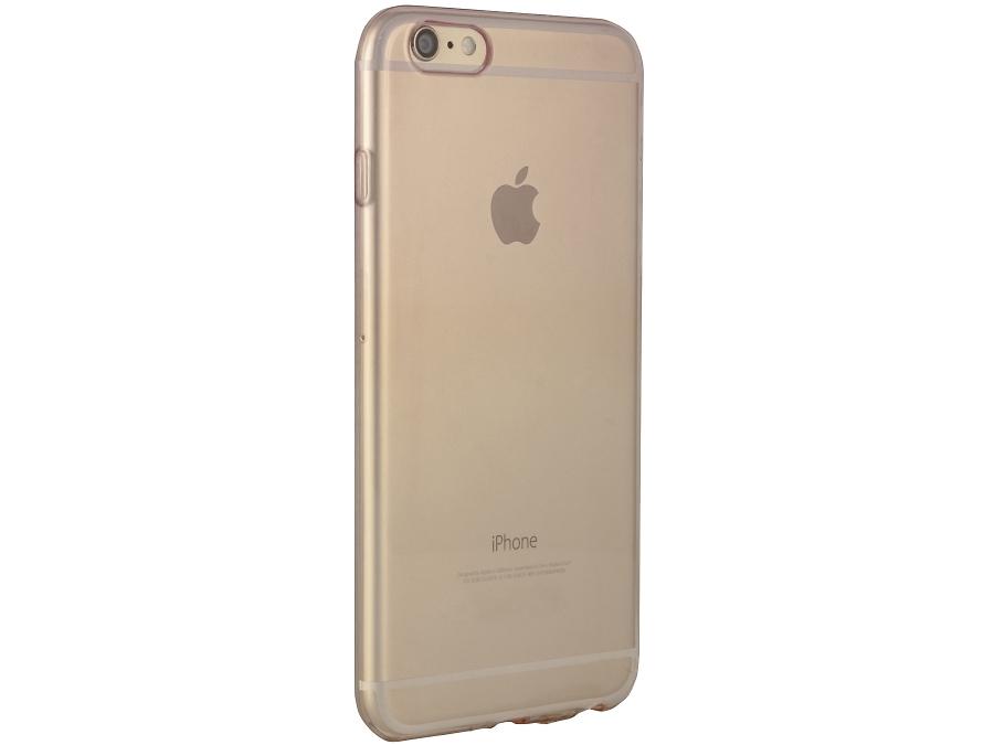 Чехол-крышка Gresso для iPhone 6 Plus жёлто-розовый, силикон, прозрачный