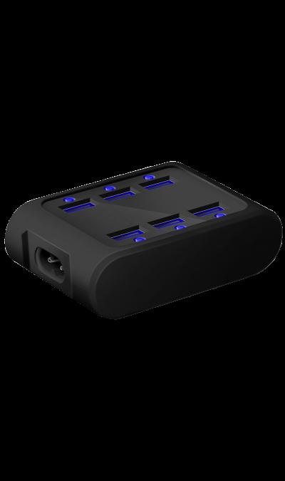 Зарядное устройство сетевое iconBIT FTB SIX черныйЗарядные устройства<br>Универсальное сетевое зарядное устройство, оснащенное 6 разъемами USB.<br><br>Ударопрочный мягкий чехол из резины;<br>Подсветка USB-портов;<br>Размер: 93 х 65 х 30 мм;<br>Вес: 135 г.<br><br>Colour: Черный