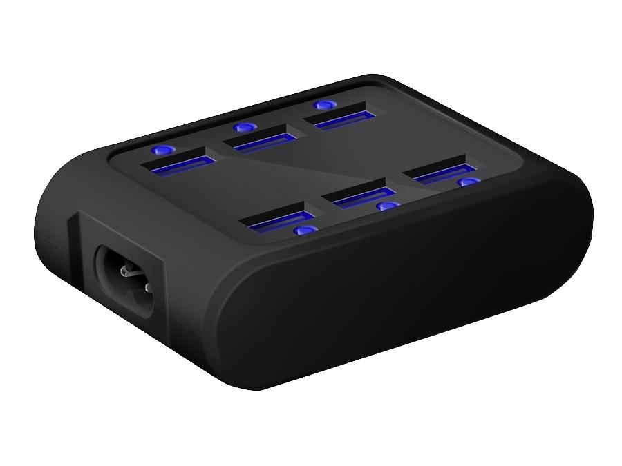Зарядное устройство сетевое iconBIT FTB SIX черный