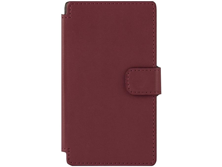 Чехол-книжка OxyFashion универсальный 4'', кожа, красный