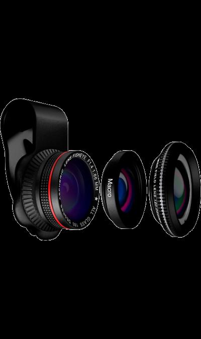 Линза для объектива Mixberry SELFIEMANIA MSM LS310WMF комплект из 3 штукУстройства для селфи<br>Набор линз для смартфонов в комплекте три линзы. Wide angle lens - широкоугольная линза 120 градусов, для съемки внутри помещений, а так же для съемки панорамных видов. Macro lens - линза для макро съемки, растений, насекомых или ювелирных изделий. Fisheye lens - линза с супер широким углом охвата картинки 180 градусов, дает необычные эффекты при съемке. Линзы крепятся через специальный зажим к корпусу смартфона или планшета. Изготовленный из специального оптического стекла с высоким уровнем ...<br>