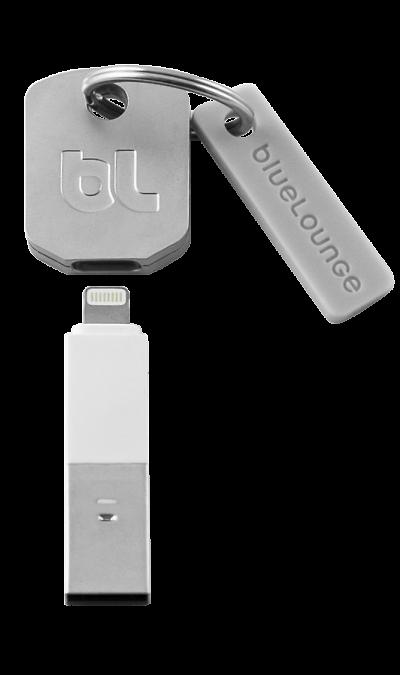 Адаптер Bluelounge Kii-WH-L-EU USB - Lightning (белый)Кабели и адаптеры<br>Устойчивая связь телефона с компьютером, а также подзарядка телефона.<br><br>Colour: Белый
