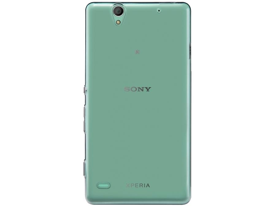 Чехол-крышка Uniq Glase для Sony Xperia C4, силикон, прозрачный